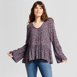 Bell Sleeve Peplem Top